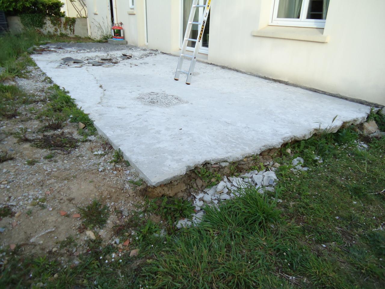 Dois je b tonner les bords de ma terrasse - Mousse sur terrasse beton ...