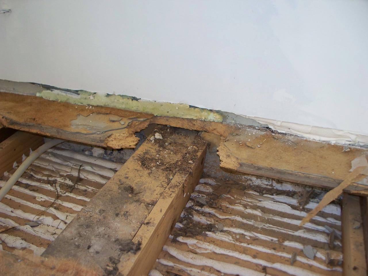 Changer plancher remettre les solives niveau - Refaire un plancher sur plancher existant ...