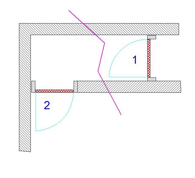 Pose bloc porte dans encadrement trop grand - Pose de bloc porte ...