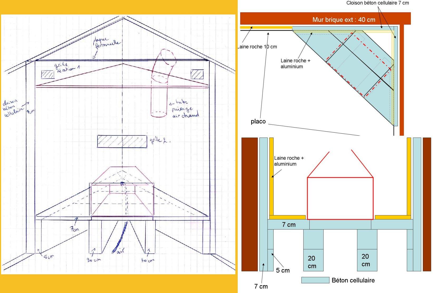 Plan Construction Foyer Exterieur : Aide à la construction d une cheminée foyer fermé