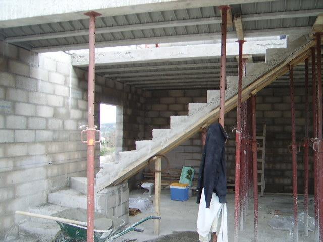 Exceptional Construction Escalier Beton Interieur  Fabriquer Un