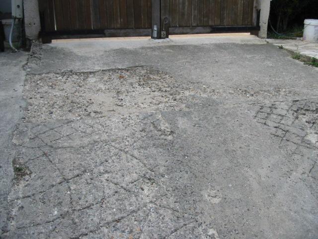 Enlever beton sur pente de garage - Prix m3 beton fait main ...