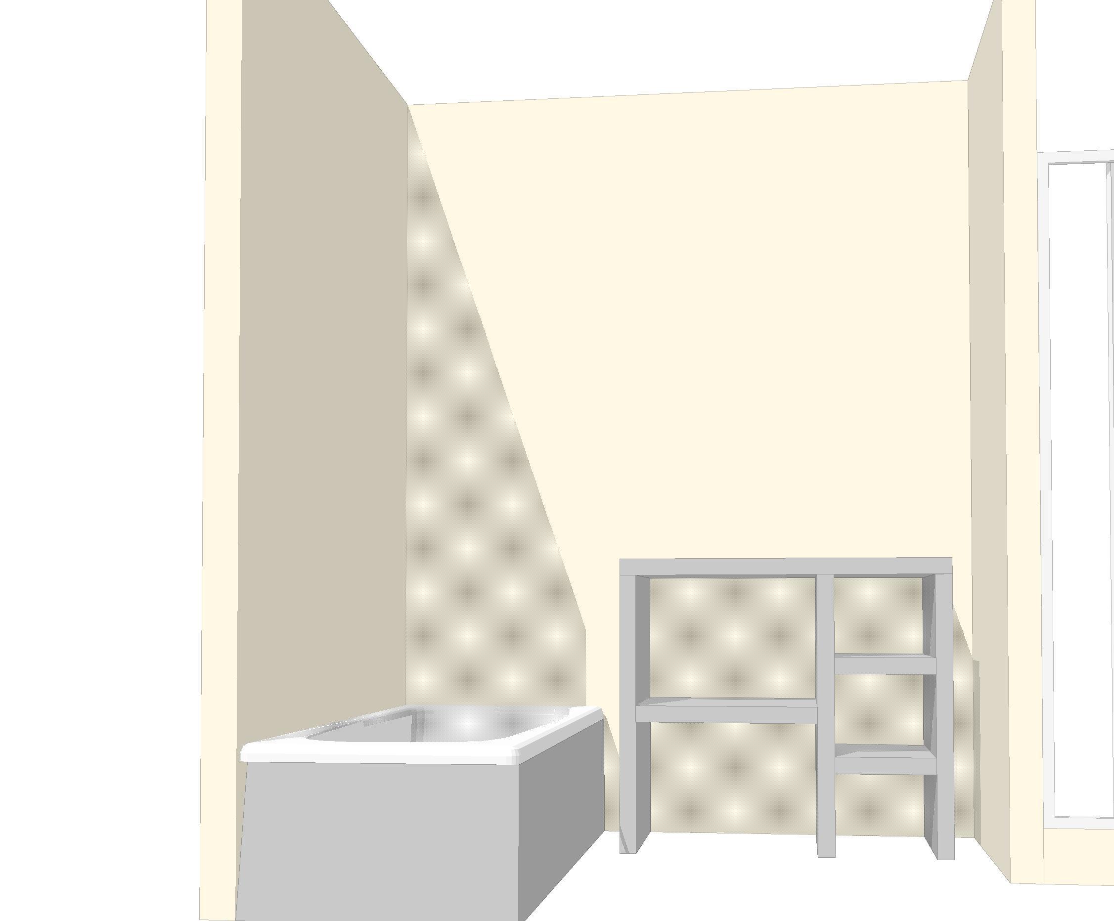 Meuble de sdb en carreaux de platre for Meuble salle de bain en siporex