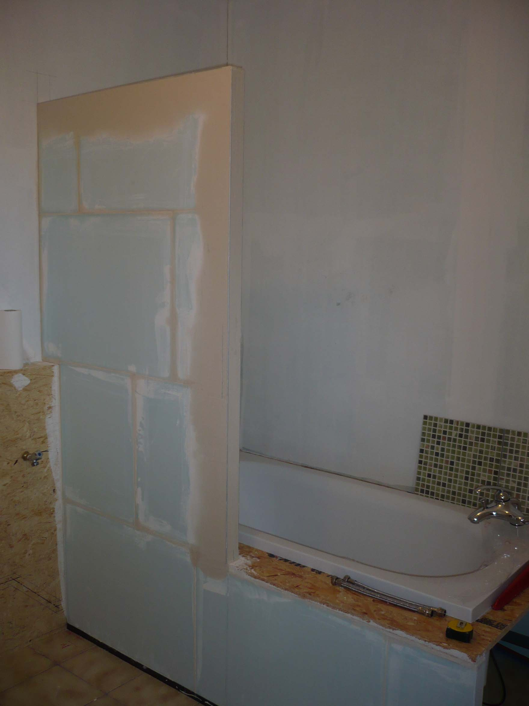 meuble de salle de bain en carreaux de platre - Platre Salle De Bain