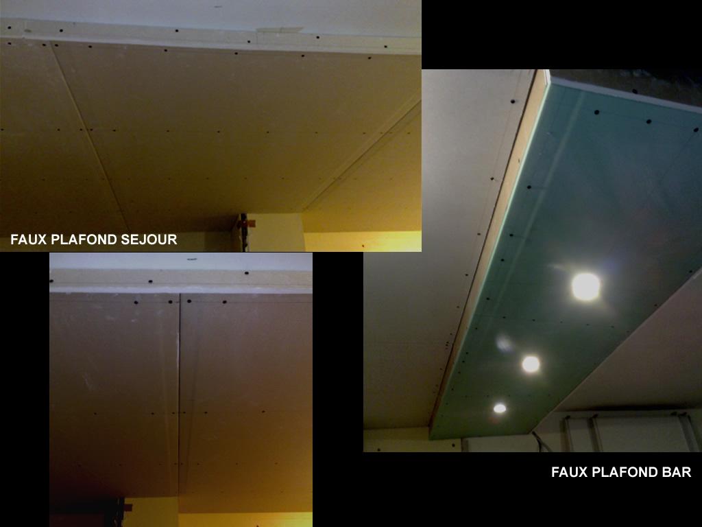 Finition faux plafond for Pose fibre de verre au plafond