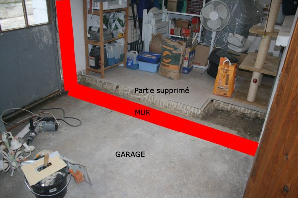 Racourcir un garage for Constructeur de garage en parpaing