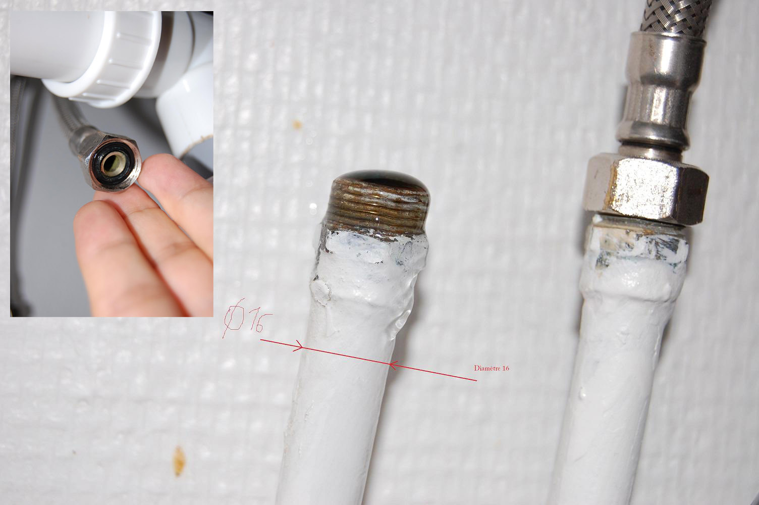 Adaptation canalisation pour lave vaisselle for Robinet pour lave vaisselle