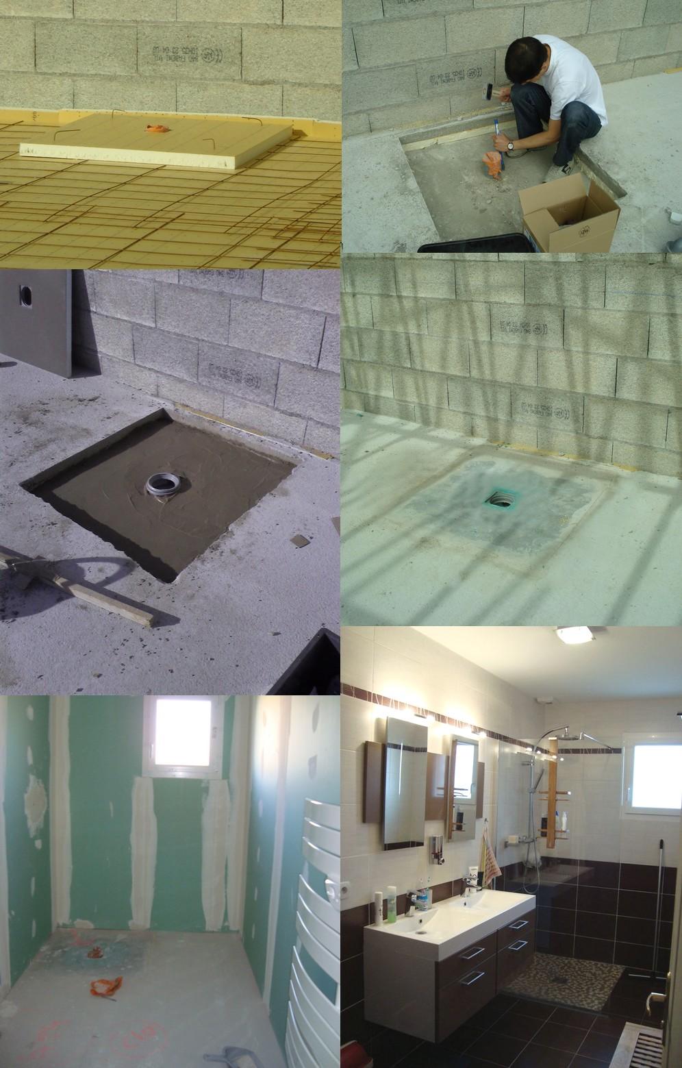 receveur carreler dans sol en tomettes. Black Bedroom Furniture Sets. Home Design Ideas