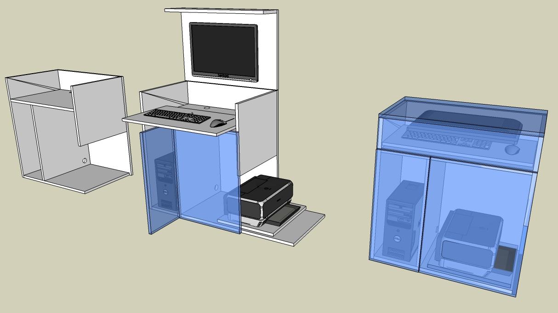 projet meuble informatique. Black Bedroom Furniture Sets. Home Design Ideas