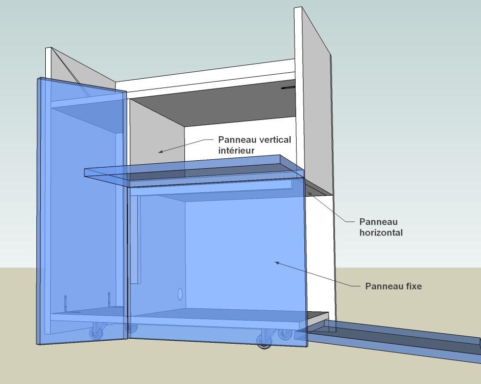 Projet meuble informatique for Meuble porte ordinateur
