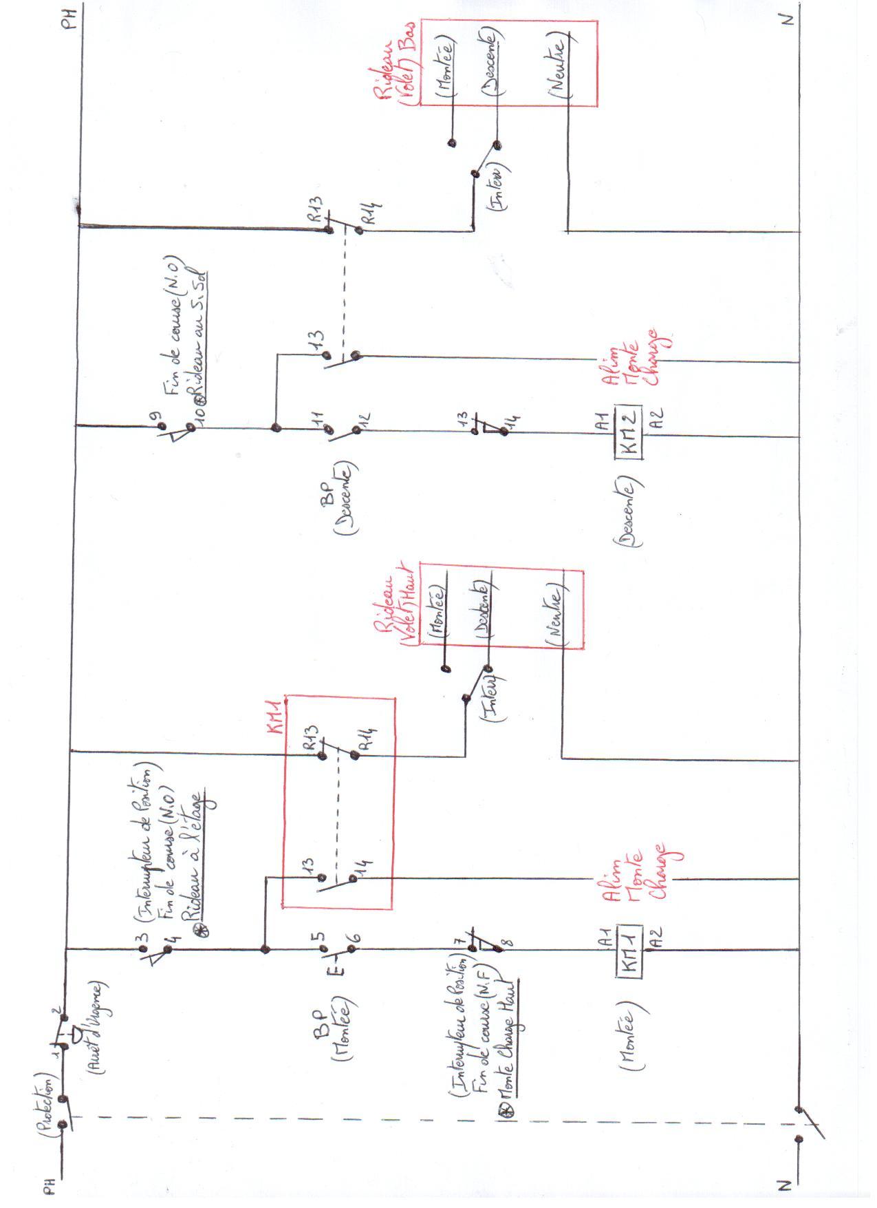 Installation electrique pour monte charge for Faire une derivation electrique
