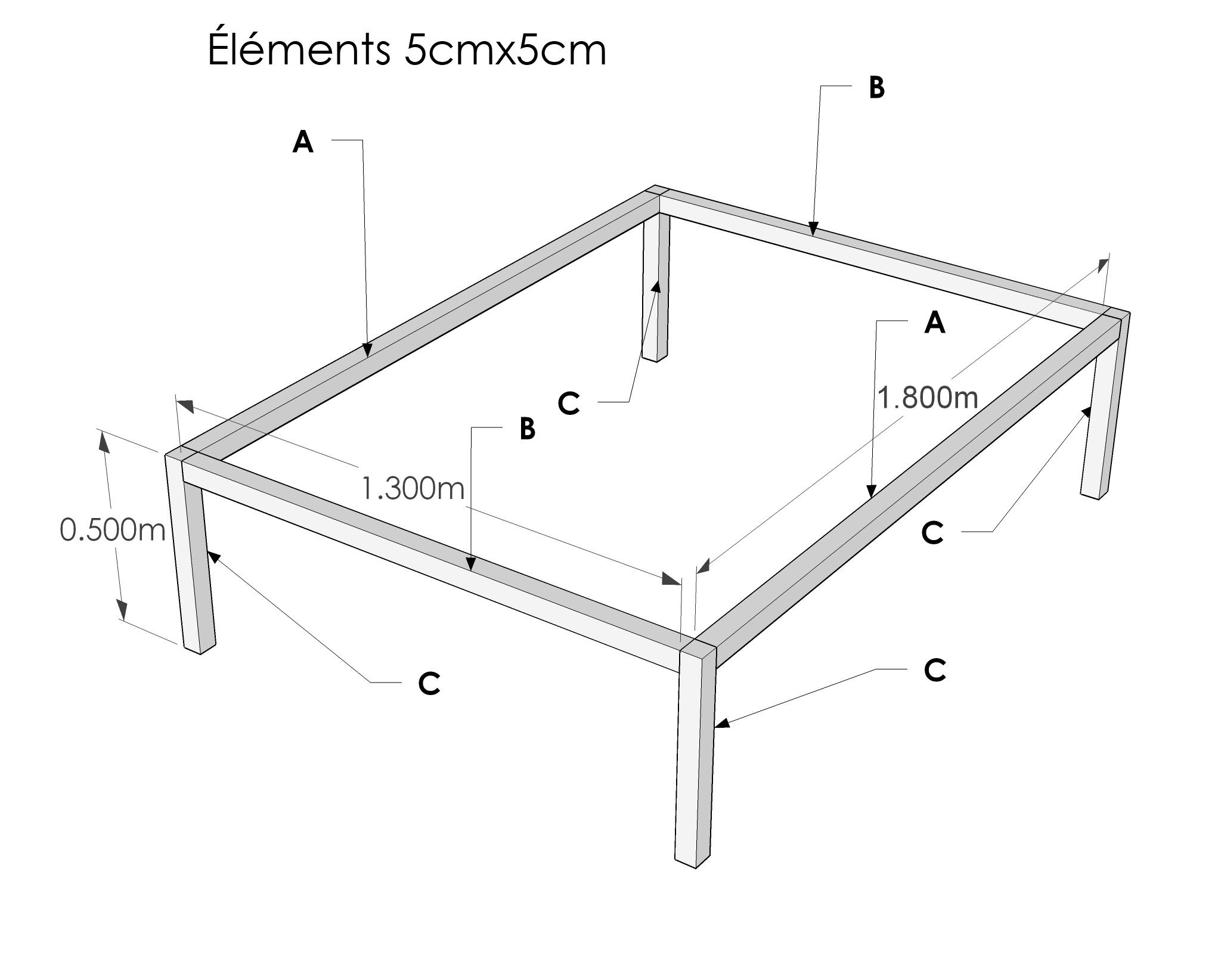 Fabrication cadre pour sur lever un lit - Construire un lit escamotable ...