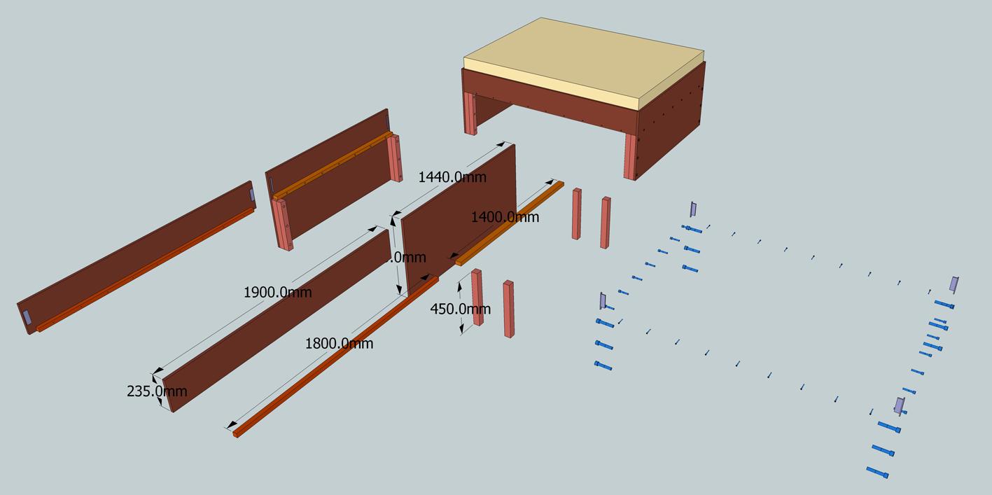 Fabrication cadre pour sur lever un lit bis - Comment surelever un lit ...