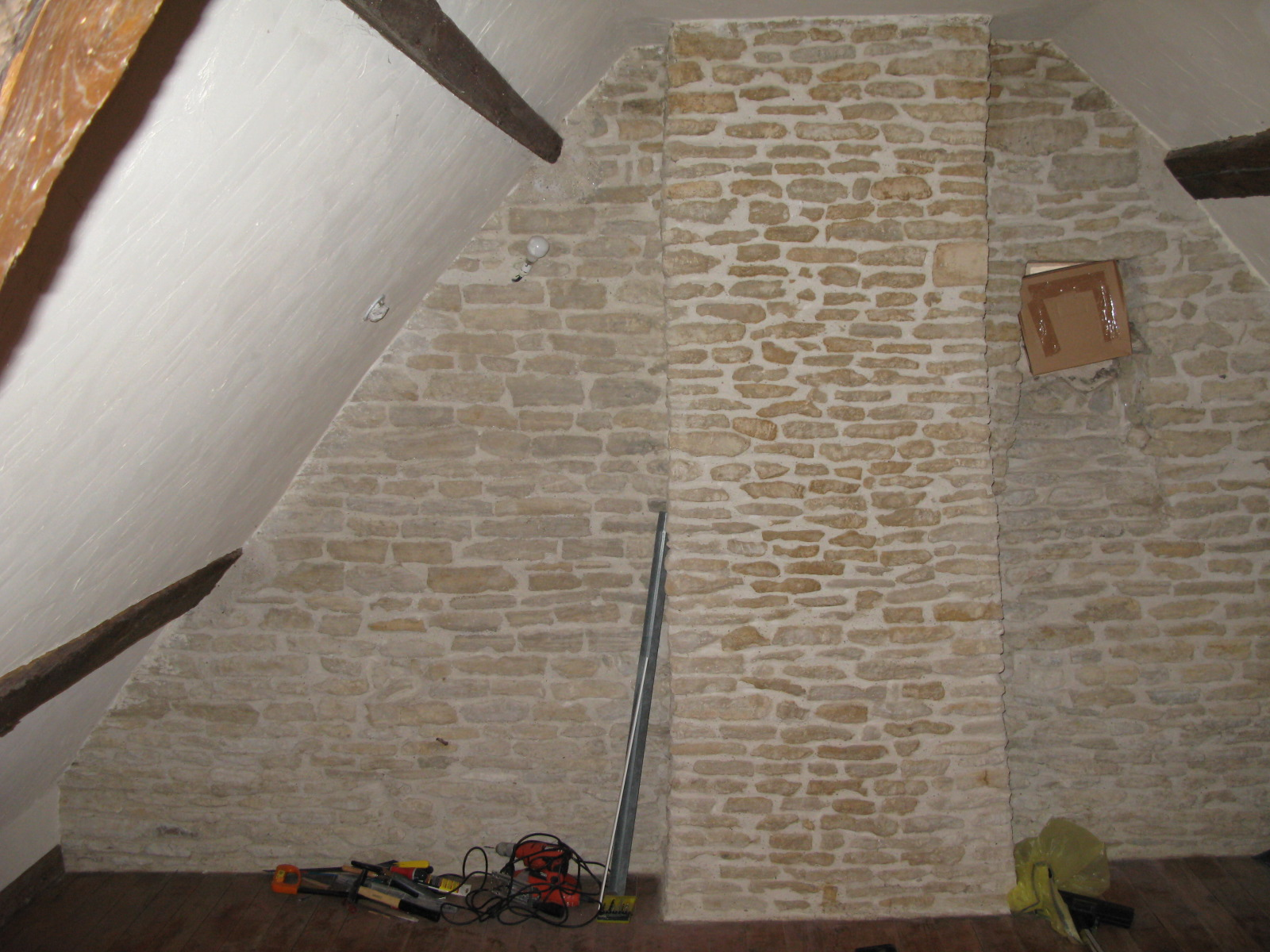 isolation comble mur en pierre. Black Bedroom Furniture Sets. Home Design Ideas