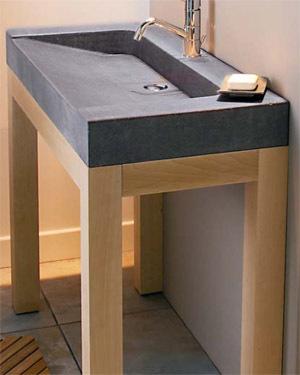 Fabriquer sa vasque for Plan vasque salle de bain leroy merlin