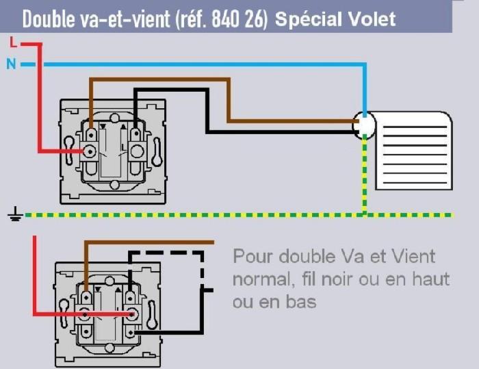 Volet motoris et prise disponible - Brancher un interrupteur double va et vient ...