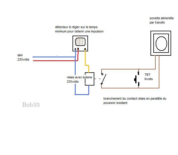 Comment faire pour brancher un d tecteur de mouvement sur une - Comment installer une sonnette filaire ...