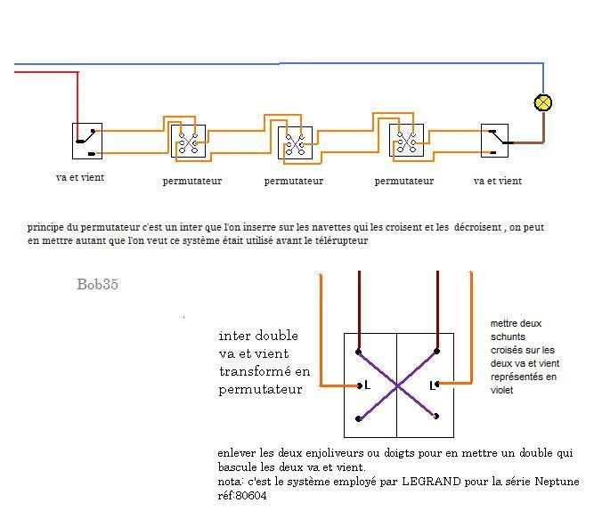 3 interrupteurs au lieu de 2 - Va et vient 3 interrupteurs ...