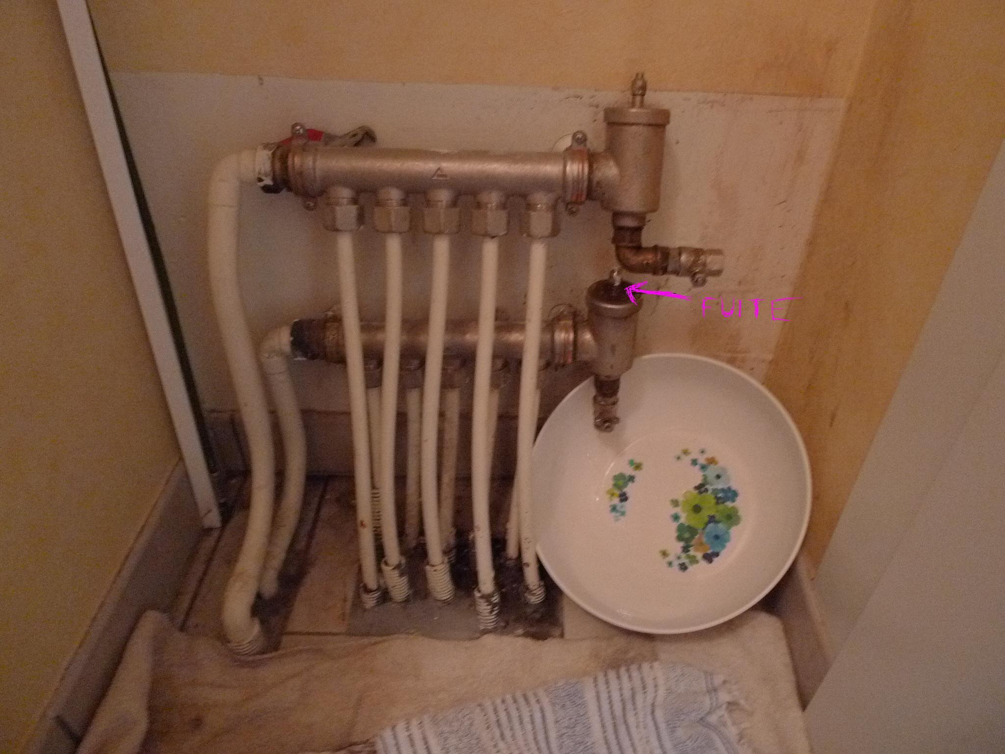 fuite sur bouchon purgeur automatique circuit chauffe eau - Fuite Radiateur Chauffage Maison