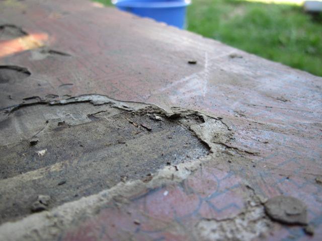 enlever tissu peinds collé sur table en bois dessin chinois # Enlever Colle Sur Bois