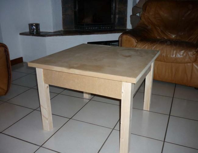 Fabriquer table basse en bois - Fabriquer une table de salon ...