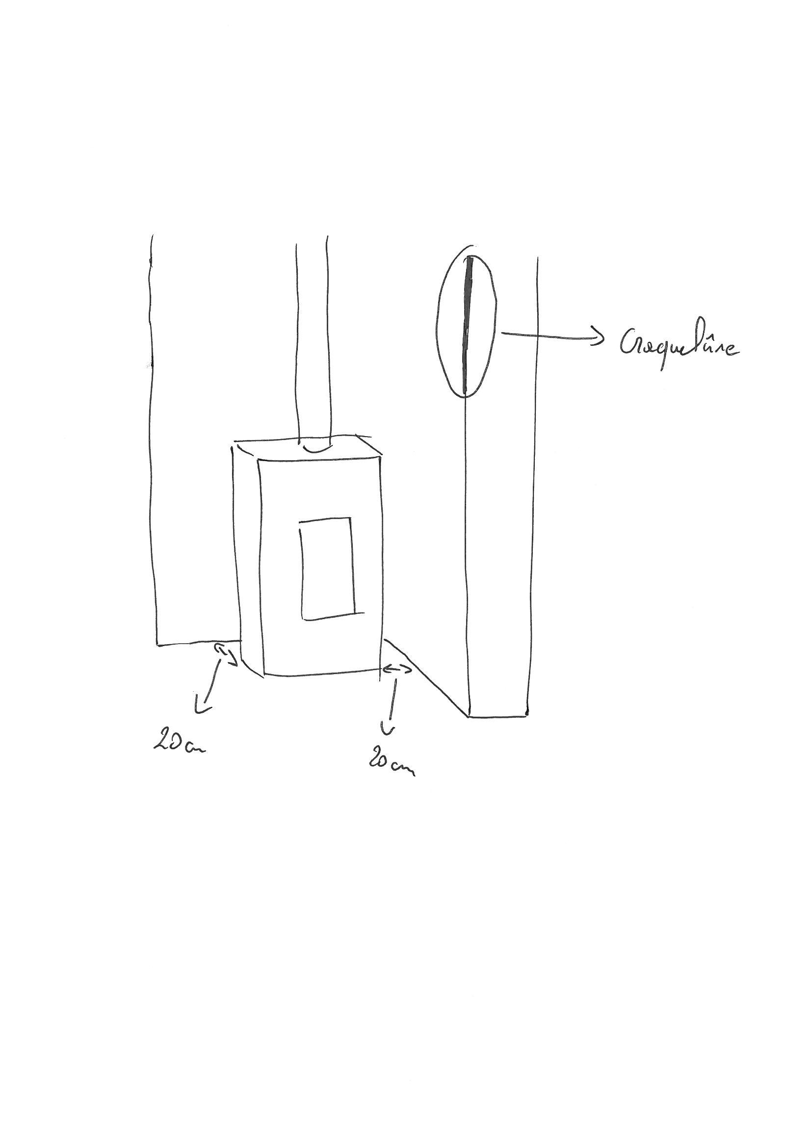 isolation derri re poele bois. Black Bedroom Furniture Sets. Home Design Ideas
