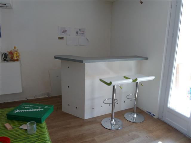 R alisation bar - Construire un bar de cuisine ...