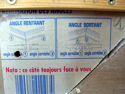 Baguette d 39 angle - Boite a onglet pour corniche ...