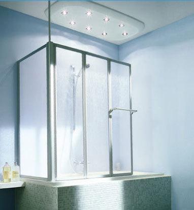 Barre de douche une seule paroi - Une paroi de douche ...