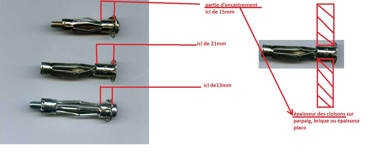 Type de cheville pour carrelage for Placo carrelage