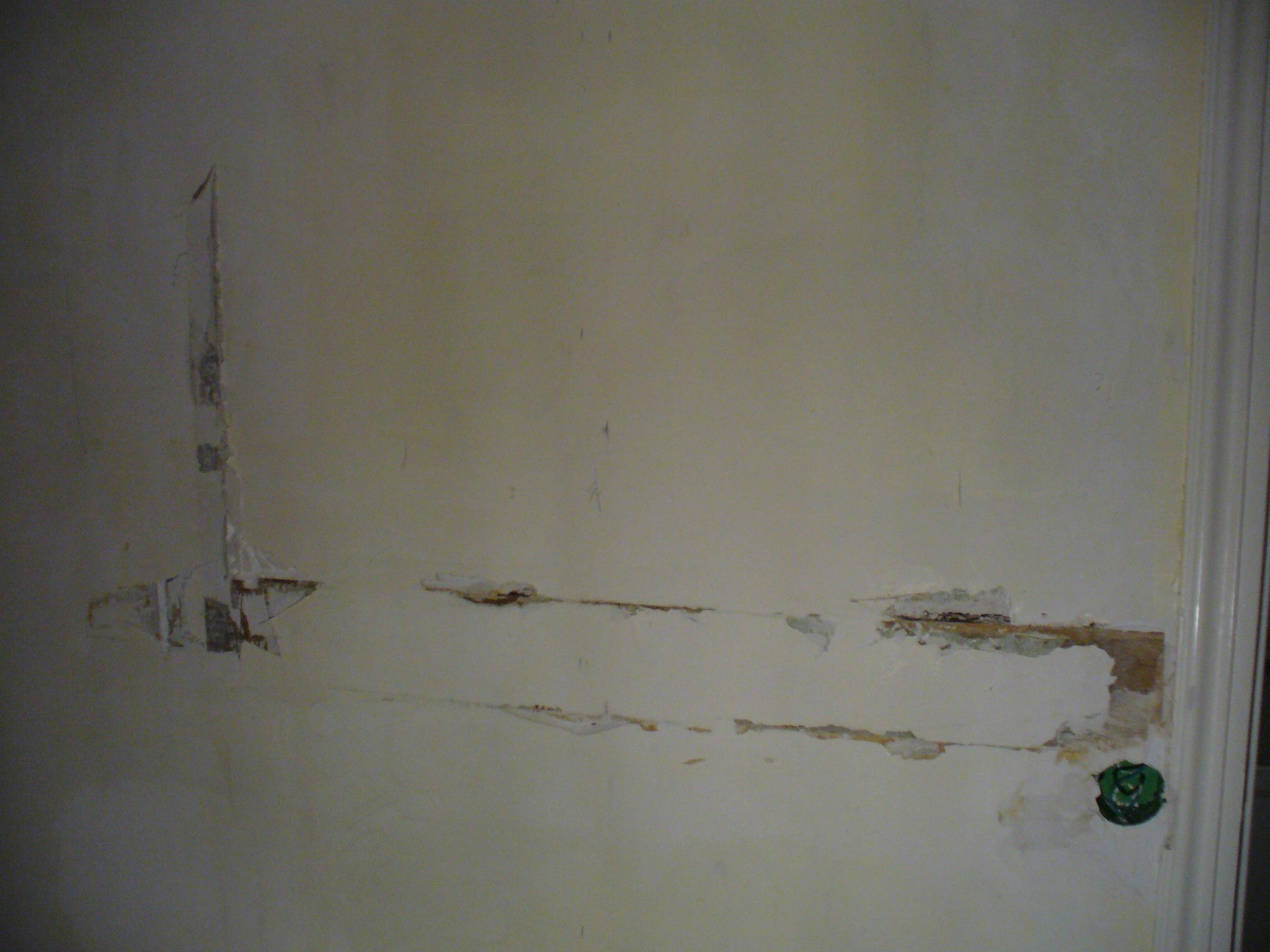 Voile de verre sur mur bois pl tre for Peindre mur platre