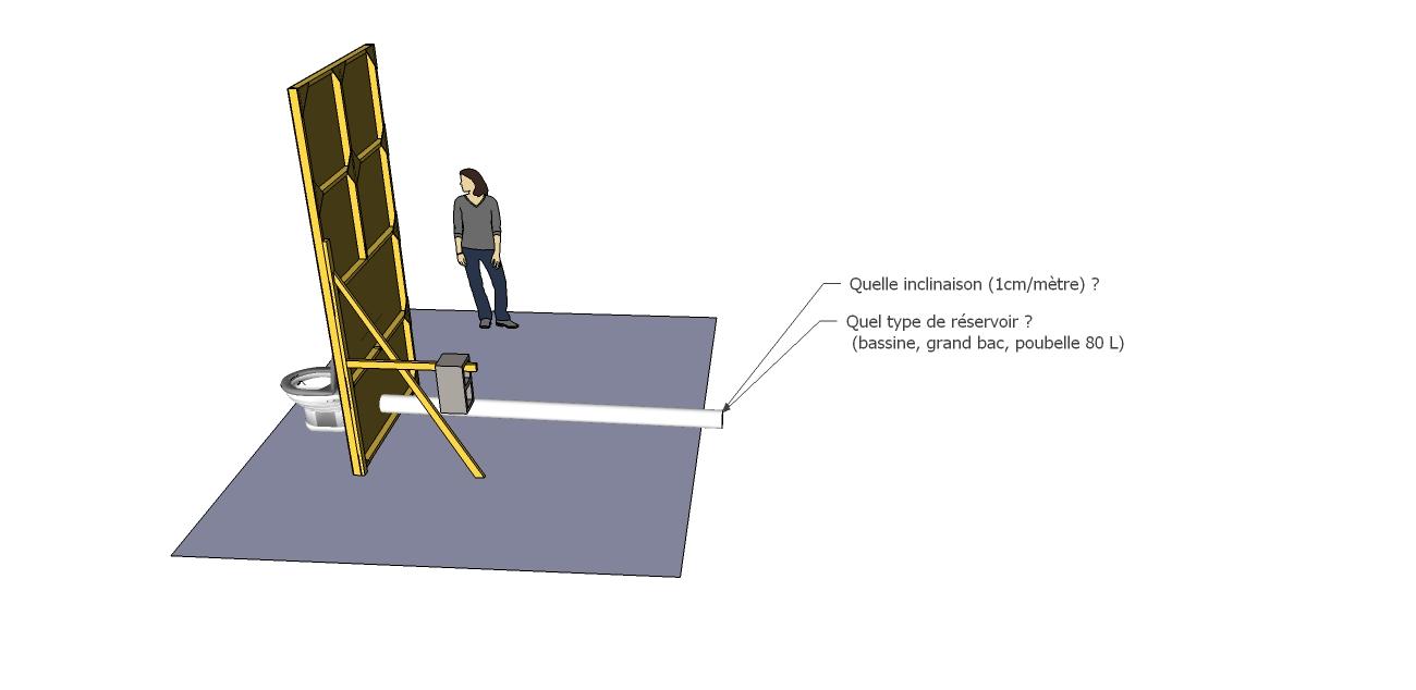 pente et systeme de retenue wc. Black Bedroom Furniture Sets. Home Design Ideas