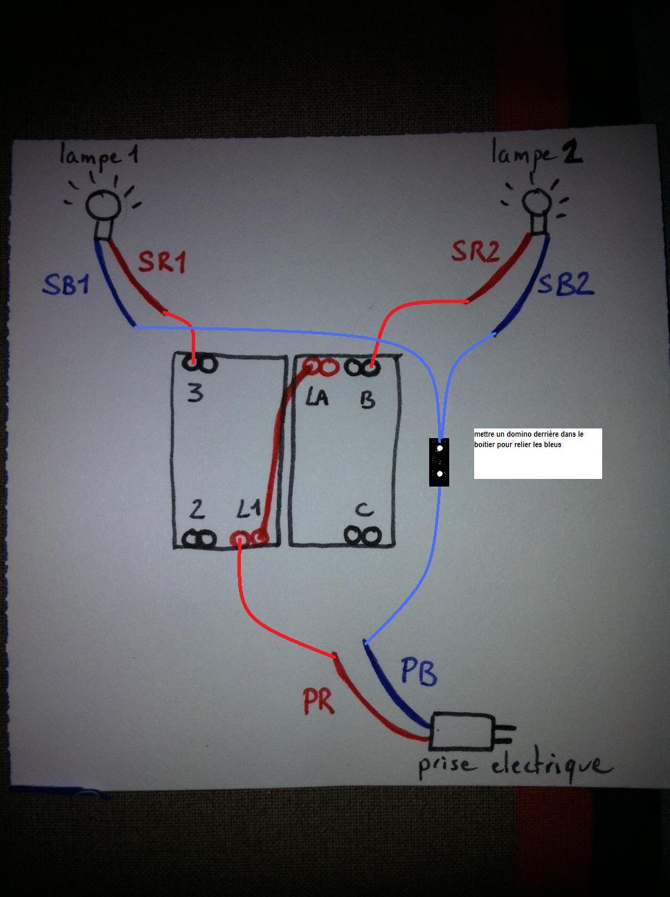 Comment installer un double interrupteur dans une t te de lit - Comment installer un interrupteur ...