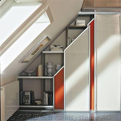 portes coulissantes sous pente. Black Bedroom Furniture Sets. Home Design Ideas