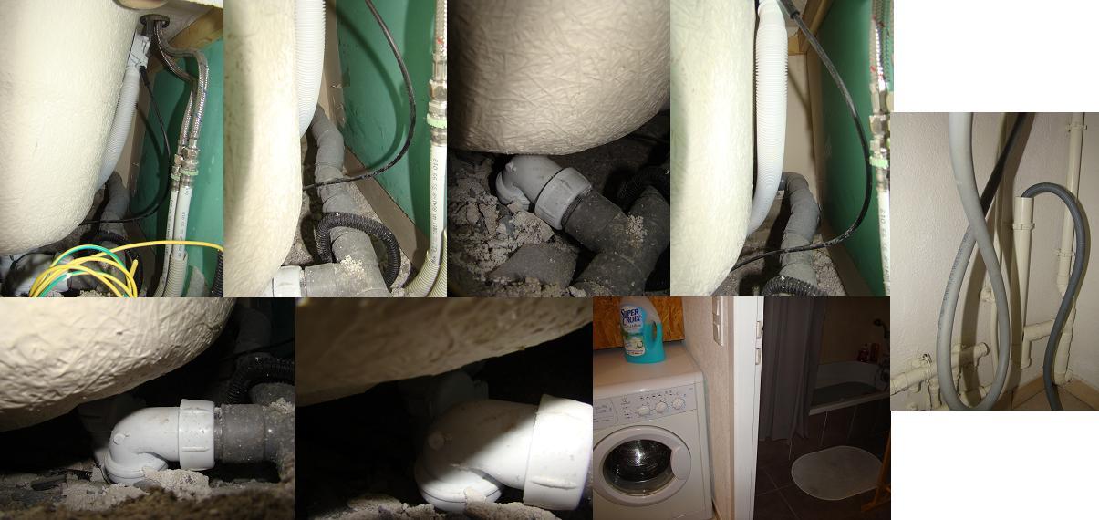 probl me vacuation eau machine laver dans baignoire. Black Bedroom Furniture Sets. Home Design Ideas