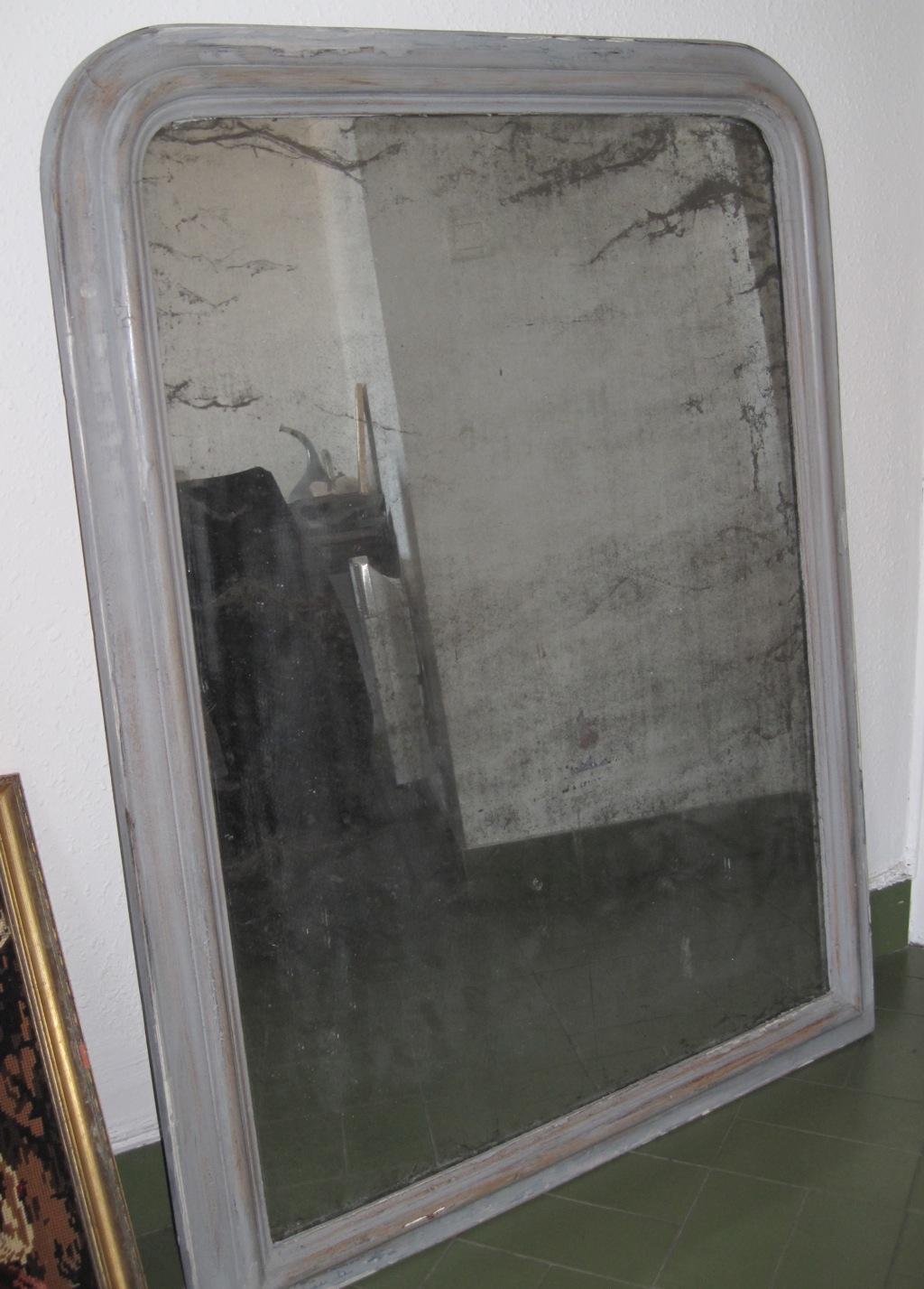 Restauration et d co sur vieux miroir for Accrocher un miroir
