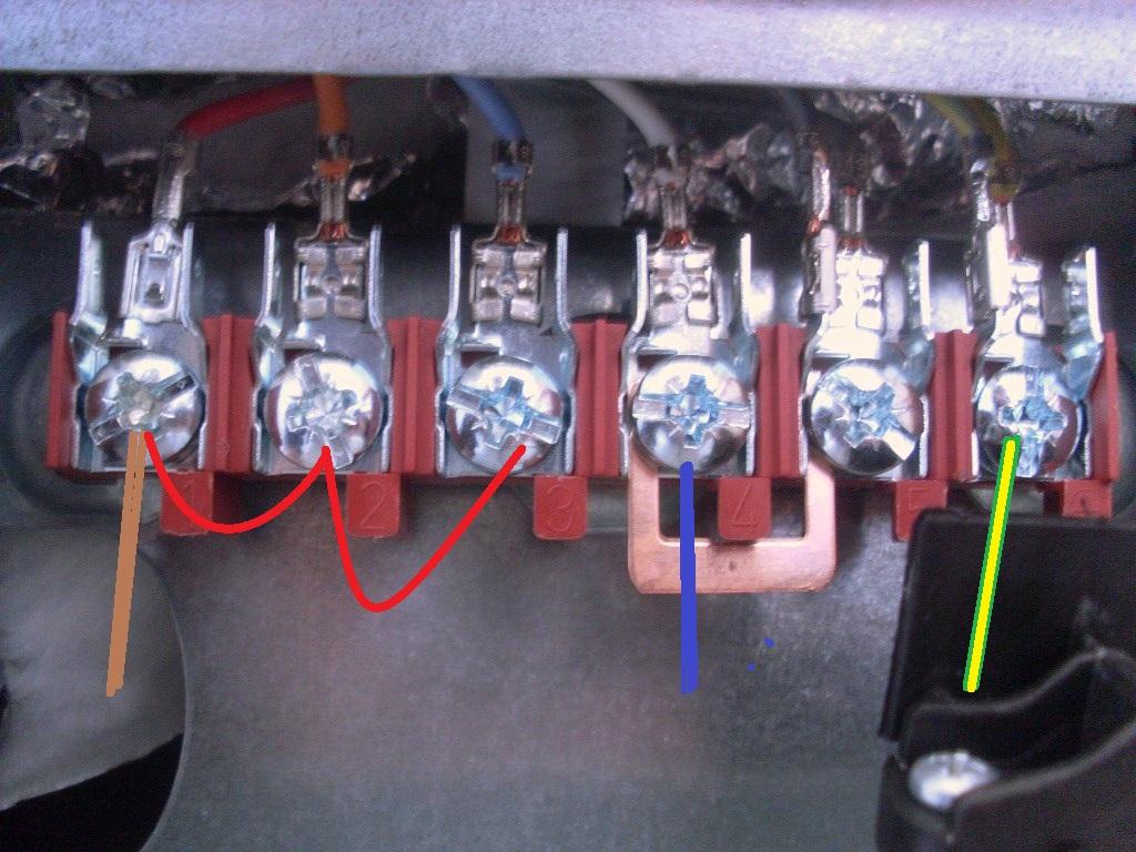 Branchement lectrique cuicini re faure cmpi 631 w - Branchement prise electrique couleur fil ...