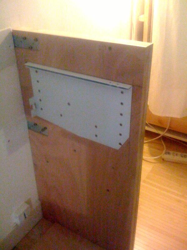 lit escamotable support sans placard. Black Bedroom Furniture Sets. Home Design Ideas