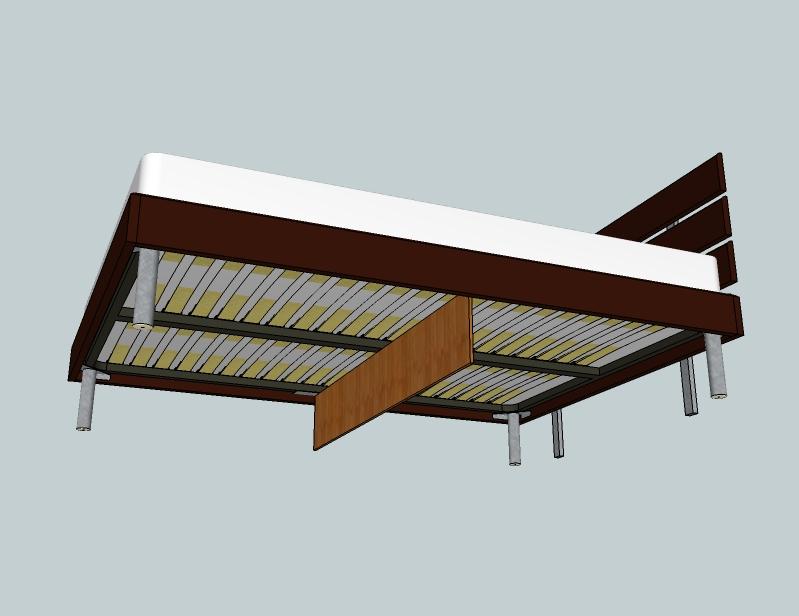 pied de lit centrale. Black Bedroom Furniture Sets. Home Design Ideas