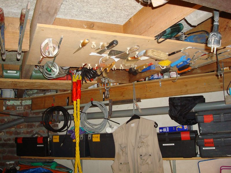 Rangement et outils for Idee rangement garage