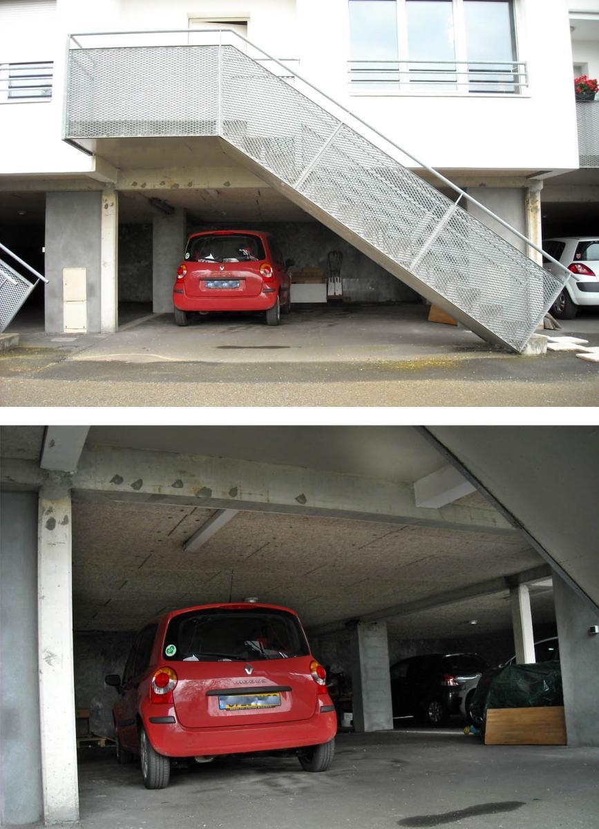 Faire installer porte de garage motoris et fa ade en bloc de - Taxe d habitation garage ...