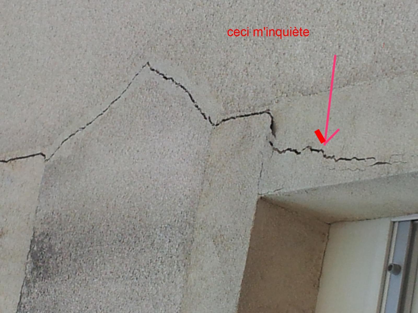 Fissure sur fa ade - Fissure verticale mur exterieur ...