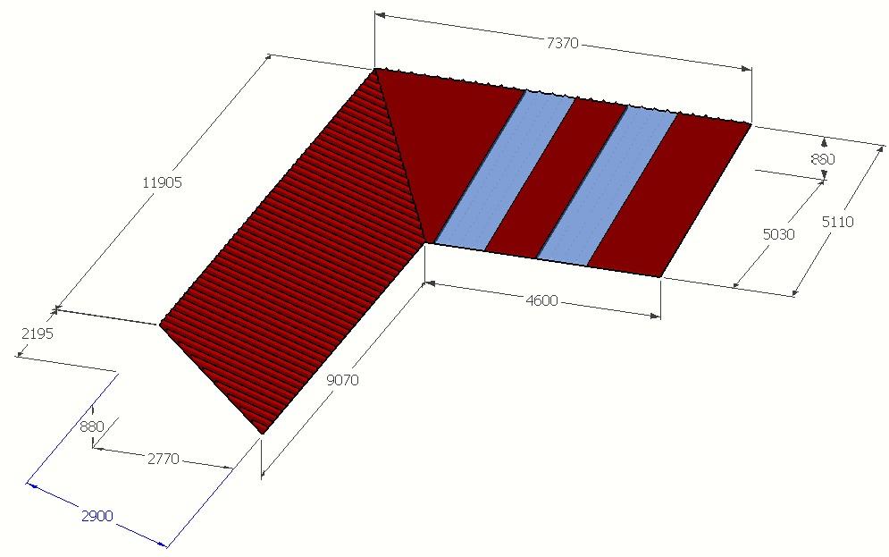 bac acier sandwich pour toiture en l. Black Bedroom Furniture Sets. Home Design Ideas