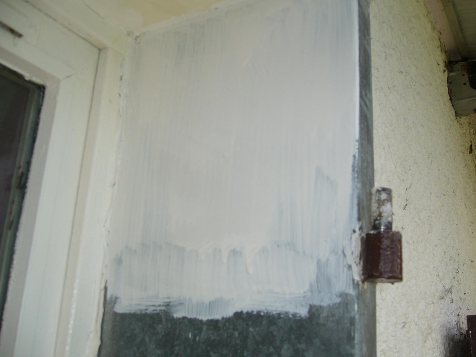 Contour fen tre peinture sur galva for Peinture sur fenetre