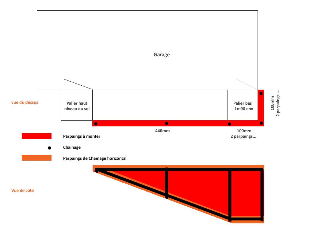 Escalier ext rieur pour cave for Calcul escalier exterieur