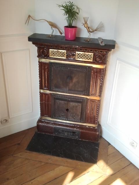 d caper peinture sur poele prussien. Black Bedroom Furniture Sets. Home Design Ideas