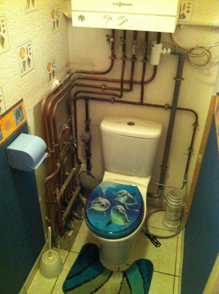 Coller des toilettes suspendus for Coffrage pour cacher des tuyaux