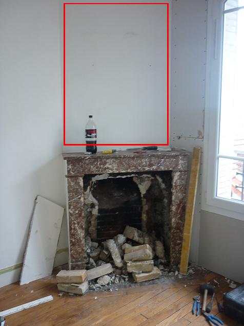 aménagement d'ancienne cheminée