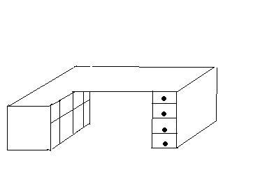 Fabriquer bureau d 39 angle avec caisson - Fabriquer un bureau d angle ...
