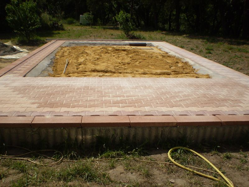 Support piscine for Sable pour piscine